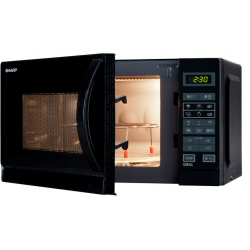 Micro ondes Sharp R-642(BK)W - Four micro-ondes grill - pose libre - 20 litres - 800 Watt - noir