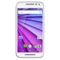 "Smartphone Motorola Moto G (3rd Gen.) - Smartphone - 4G LTE - 16 Go - microSDHC slot - GSM - 5"" - 1 280 x 720 pixels (294 ppi) - IPS - 13 MP (caméra avant de 5 mégapixels) - Android - blanc"