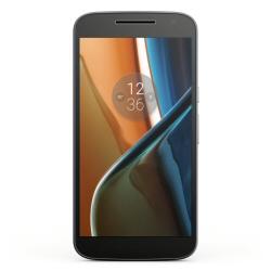 """Smartphone Motorola Moto G4 - Smartphone - double SIM - 4G LTE - 16 Go - microSDXC slot - GSM - 5.5"""" - 1 920 x 1 080 pixels (401 ppi) - 13 MP (caméra avant de 5 mégapixels) - Android - noir"""