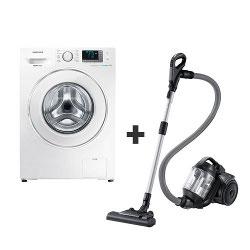 Lave-linge Samsung Ecolavaggio Premium WF90F5E5P4W - Machine à laver - pose libre - largeur : 60 cm - profondeur : 55 cm - hauteur : 85 cm - chargement frontal - 9 kg - 1400 tours/min - blanc