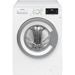 Lave-linge Smeg High Tech WHT710EIT-1 - Machine � laver - pose libre - largeur : 60 cm - profondeur : 50 cm - hauteur : 84 cm - chargement frontal - 7 kg - 1000 tours/min - blanc
