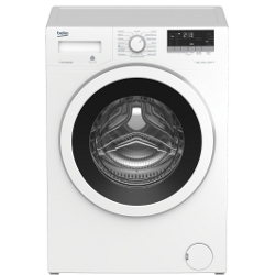 Lave-linge Beko WTE7633XW0 - Machine à laver - pose libre - largeur : 60 cm - profondeur : 50 cm - hauteur : 84 cm - chargement frontal - 7 kg - 1200 tours/min - blanc