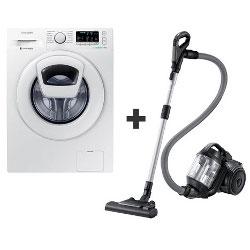 Lave-linge Samsung Ecobubble WW70K5410WW - Machine à laver - pose libre - largeur : 60 cm - profondeur : 55 cm - hauteur : 85 cm - chargement frontal - 7 kg - 1400 tours/min - blanc