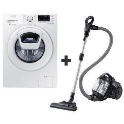 Lave-linge Samsung Ecobubble WW80K5410WW - Machine à laver - pose libre - largeur : 60 cm - profondeur : 55 cm - hauteur : 85 cm - chargement frontal - 8 kg - 1400 tours/min - blanc
