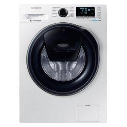 Lave-linge Samsung Ecobubble WW90K6414QW - Machine à laver - pose libre - largeur : 60 cm - profondeur : 55 cm - hauteur : 85 cm - chargement frontal - 9 kg - 1400 tours/min - blanc