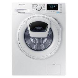 Lave-linge Samsung Ecolavaggio WW90K6414SW - Machine à laver - pose libre - largeur : 60 cm - profondeur : 55 cm - hauteur : 85 cm - chargement frontal - 9 kg - 1400 tours/min - blanc