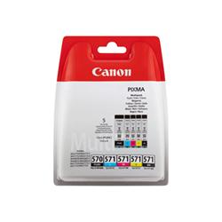 Serbatoio Canon - Pgi-570/cli-571 pgbk/bk/c/m/y multi pack - confezione da 5 0372c004