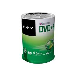 Sony - Dvd+r x 100 - 4.7 gb - supporti di memorizzazione 100dpr47sp