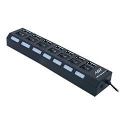 Hub ADJ - Hb007-7 usb 2.0 ports black