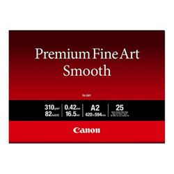 Carta fotografica Canon - Premium fine art smooth fa-sm1 - carta fotografica - liscia - 25 fogli 1711c006