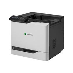 Imprimante laser Lexmark CS820de - Imprimante - couleur - Recto-verso - laser - A4/Legal - 1200 x 1200 ppp - jusqu'à 57 ppm (mono) / jusqu'à 57 ppm (couleur) - capacité : 650 feuilles - USB 2.0, Gigabit LAN, hôte USB 2.0