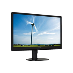 "Écran LED Philips S-line 220S4LYCB - Écran LED - 22"" - 1680 x 1050 - 250 cd/m² - 1000:1 - 5 ms - DVI-D, VGA, DisplayPort - noir texturé"