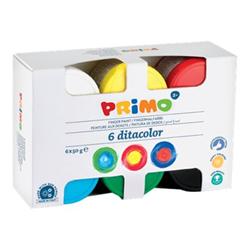 Tempera Primo - Colori a dita - colori brillanti assortiti 226td50s