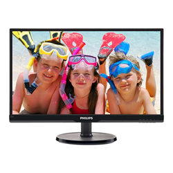 "Écran LED Philips V-line 226V6QSB6 - Écran LED - 22"" (21.5"" visualisable) - 1920 x 1080 Full HD (1080p) - AH-IPS - 250 cd/m² - 1000:1 - 8 ms - DVI-D, VGA - noir texturé, noir brillant"
