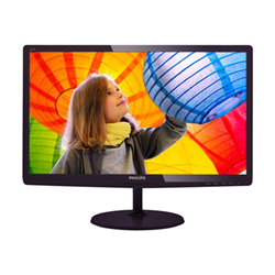 "Écran LED Philips E-line 227E6LDAD - Écran LED - 22"" (21.5"" visualisable) - 1920 x 1080 Full HD (1080p) - 250 cd/m² - 1000:1 - 2 ms - HDMI, DVI-D, VGA, MHL - haut-parleurs - noir cerise brillant"