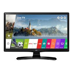 """Écran TV LCD LG 24MT49S - Écran LED avec tuner TV - 24"""" (23.6"""" visualisable) - 1366 x 768 FWXGA - IPS - 200 cd/m² - 1000:1 - 14 ms - 2 x HDMI, RCA (composite), RCA (composant) - haut-parleurs - noir brillant avec couvercle noir texturé"""