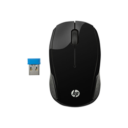 Mouse HP - 200 - mouse - 2.4 ghz - argento 2hu84aa#abb