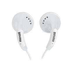 Maxell Colour Budz - Écouteurs - embout auriculaire - jack 3,5mm - blanc