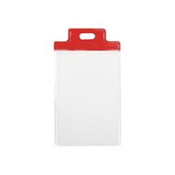 Sei pass 1 s - porta badge - per 55 x 85 mm - rosso (pacchetto di 100) 31801012
