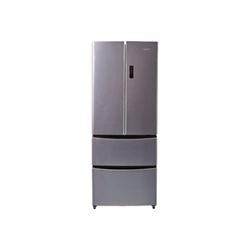 Réfrigérateur Candy CCMN 7182IXS - Réfrigérateur/congélateur - pose libre - largeur : 70 cm - profondeur : 70 cm - hauteur : 180 cm - 371 litres - style français - classe A+ - inox