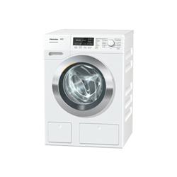 Lave-linge Miele WKH 130 WPS - Machine à laver - pose libre - largeur : 59.6 cm - profondeur : 63.6 cm - hauteur : 85 cm - chargement frontal - 8 kg - 1600 tours/min - blanc lotus