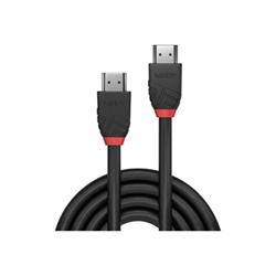 Cavo HDMI Lindy - Black line hdmi con cavo ethernet - 50 cm 36470