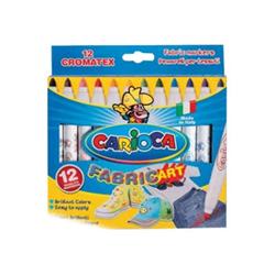 Carioca - Cromatex fabric art - penna punta in fibra (pacchetto di 12) 40957