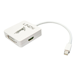 Adattatore Lindy - Mini displayport 1.2 to hdmi, vga & dvi-d active adapter converter 41035