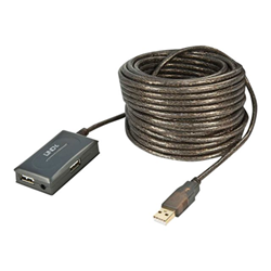 Adattatore Lindy - 10m usb 2.0 extension 4 port hub - hub - 4 porte 42630