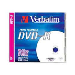 Verbatim - Dvd-r x 1 - 4.7 gb - supporti di memorizzazione 43520