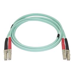Cavo ottico Startech - Startech.com aqua om4 duplex multimode fiber - 1m / 3 ft - 100 gb 450fblclc1