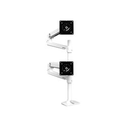 Lenovo - Ergotron lx dual stacking arm tall pole - montaggio a scrivania 45-509-216