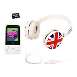 Image of Lettore MP3 Lettore mp4 cuffie bandiera mic
