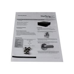 Startech - Startech.com cassetto archiviazione in acciaio 4u colore nero per rack 19'' e a