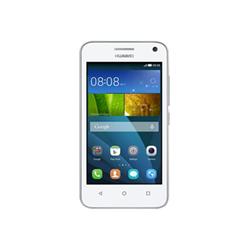"""Smartphone Huawei Y3 - Smartphone - double SIM - 3G - 4 Go - microSD slot - GSM - 4"""" - 800 x 480 pixels - 5 MP (caméra avant de 2 mégapixels) - Android - blanc"""
