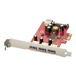 Scheda PCI Lindy - Usb 3.0 card - 3 + 1 port - adattatore usb - 4 porte 51121