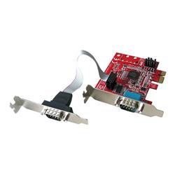 Adattatore di rete Lindy - 2 port low profile serial card - scheda seriale 51245