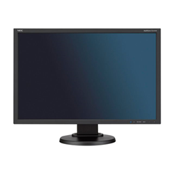 "Écran LED NEC MultiSync E245WMi - Écran LED - 24"" (24"" visualisable) - 1920 x 1200 - IPS - 250 cd/m² - 1000:1 - 6 ms - DVI-D, VGA, DisplayPort - haut-parleurs - noir"