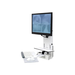 Lenovo - Ergotron styleview sit-stand vertical lift, patient room 61-080-062