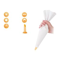 Tescoma - Sac a poche tessuto 35cm c/6 beccuc