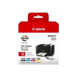 Serbatoio Canon - Pgi-1500xl c/m/y/bk multipack - confezione da 4 - alta resa 9182b005