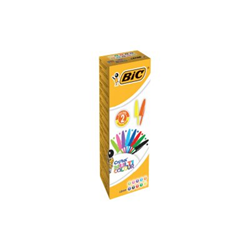 Penna Bic - Conf20 penne cristal col. ass1.6mm