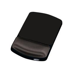 Tappetini per mouse Fellowes - Premium gel graphite - tavoletta per mouse con poggiapolso 9374001