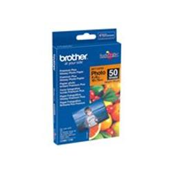 Carta fotografica Brother - Bp - carta fotografica - lucido - 50 fogli - 100 x 150 mm bp71gp50