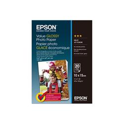 Carta fotografica Epson - Value - carta fotografica - lucido - 20 fogli - 100 x 150 mm c13s400037