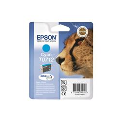 Cartuccia Epson - T0712 - ciano - originale - cartuccia d'inchiostro c13t07124022