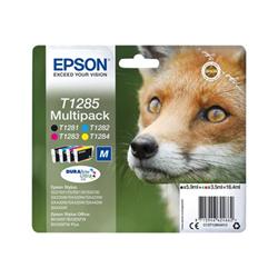 Cartuccia Epson - T1285 multipack - confezione da 4 - nero, giallo, ciano, magenta c13t12854012