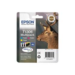 Cartuccia Epson - T1306 multipack - confezione da 3 - xl - giallo, ciano, magenta c13t13064022
