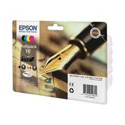 Cartuccia Epson - 16 multipack - confezione da 4 - nero, giallo, ciano, magenta c13t16264012