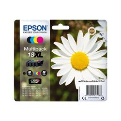 Cartuccia Epson - 18xl - confezione da 4 - xl - nero, giallo, ciano, magenta c13t18164012